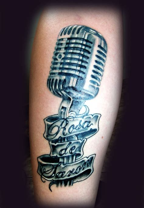 tattoo of a microphone microphone tattoo pictures to pin on pinterest