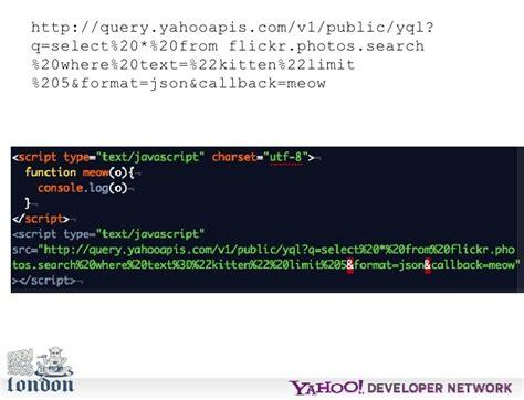 yql format html yql christian heilmann open hack london presentation