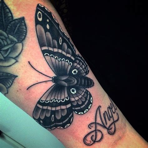moth tattoo design moth black