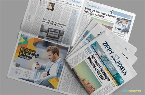 free beautiful newspaper ad psd mockup zippypixels
