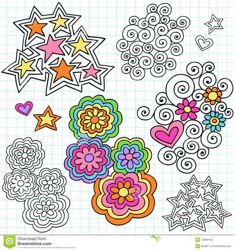 free vector doodle elements groovy notebook doodle design elements vector royalty free