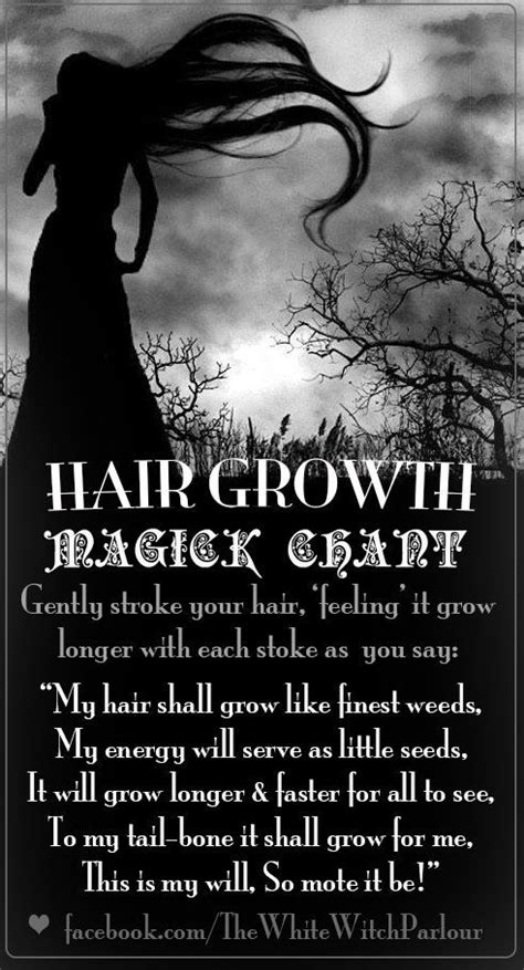 black magic a poem books hair growth magick chant printable spell page witches