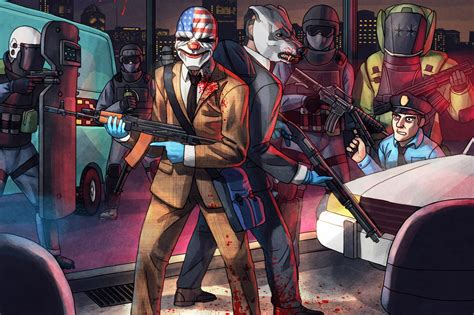 Play Of The Day 2 by Get Surreal In Payday 2 Hotline Miami Dlc Digital Trends