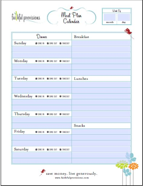 family menu planner template family menu planner template