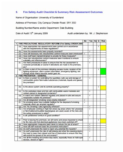 Risk Management Report Template Free