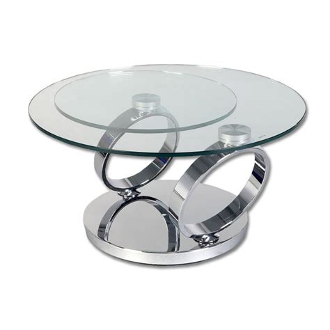 2 levels swivel round glass coffee table buy glass