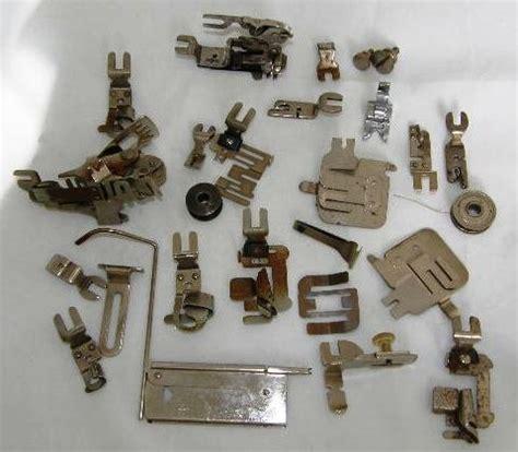 vintage greist sewing machine attachments assorted binder