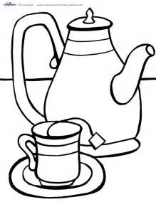 free coloring pages of tea set