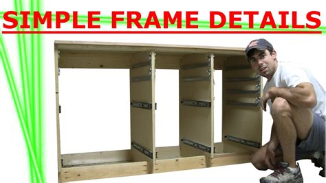 Kitchen Island Bases building cabinet of drawers frame details youtube
