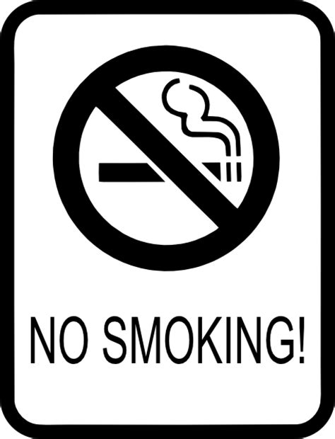 no smoking sign free vector no smoking sign clip art free vector 4vector