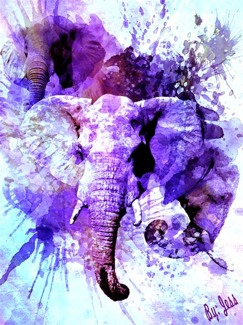 elephant watercolor by shantem on deviantart