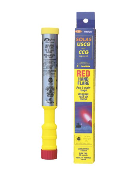 boat safety flares canada red hand held flare pack 6 1 6kg by orion part no