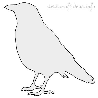craft template for a crow silhouette