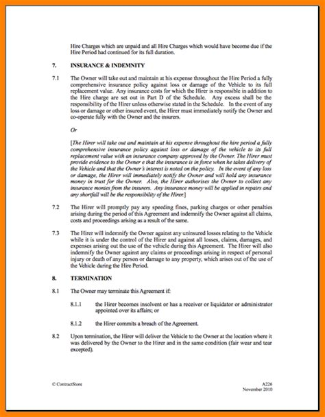 Agreement Letter Sle For Car Rental 5 Car Leasing Agreement Bid Template