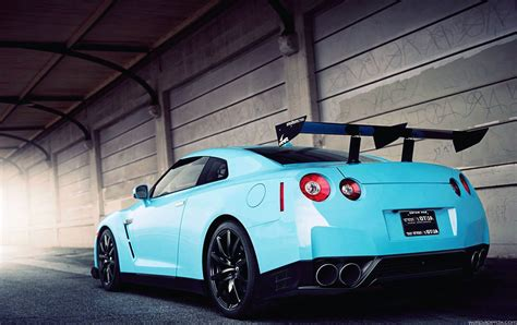 blue nissan gtr wallpaper nissan gtr wrapped in light blue size hd