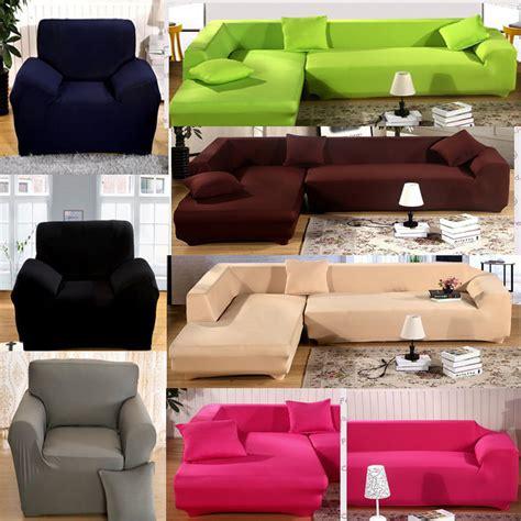 L Shaped Sectional Sofa Covers L Shape Stretch Elastic Fabric Sofa Cover Pet Sectional Corner Covers In Sofa Cover