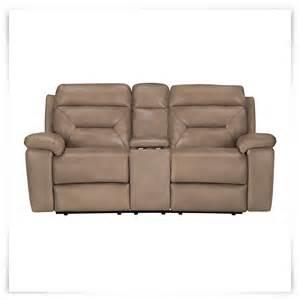 city furniture dk beige microfiber reclining