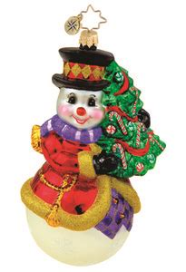 how to make a snowman tree hugger radko 1015438 hugger snowman with tree ornament new 2011 11 8