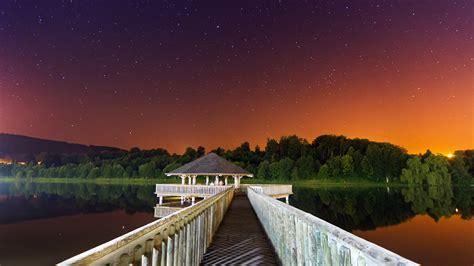 wallpaper night   wallpaper  sky stars pier
