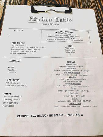 the kitchen table restaurant kitchen table menu picture of kitchen table tulum