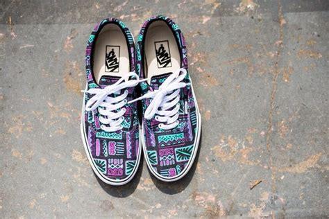 blue pattern vans shoes vans tribal pattern classic light blue purple