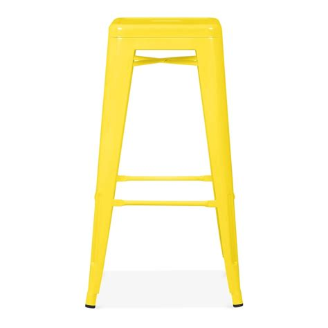Yellow Stools by Yellow Powder Coated 75cm Tolix Style Industrial Stool