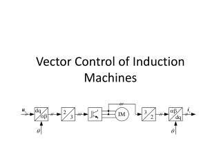 tutorial on vector control of induction motor ppt sensorless control of induction machines powerpoint