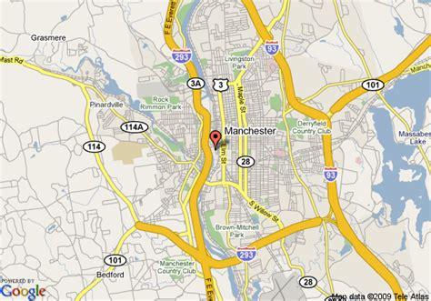 manchester new hshire map map of garden inn manchester downtown manchester