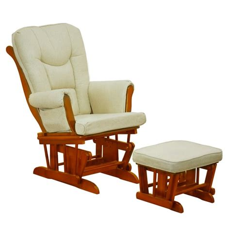 sleigh glider and ottoman athena sleigh glider and ottoman in pecan and beige gl7126p