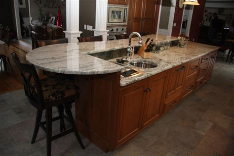 Handmade Kitchen Island - custom kitchen island cabinets with seating in wilbraham