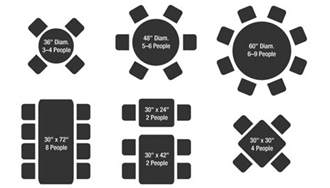 What Size Round Table Seats 10 by Tips For Planning Your Dining Room Space