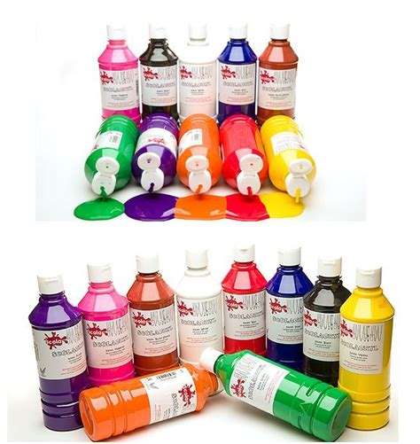 acrylic paint jugs scola gloss finish acrylic paints 500ml bottles 15 water