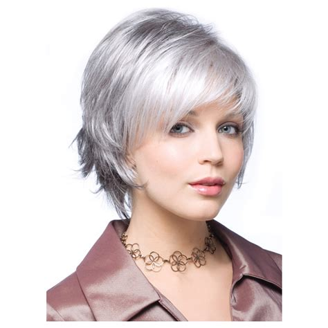 perms for fine hair grey in colour short hairstyle 2013 womens perruque short silver grey wigs natural hair pixie