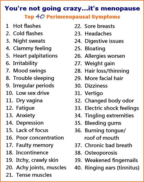 1000 ideas about menopause signs image gallery list all symptoms menopause