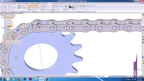 solid edge assembly curve pattern surfacing engineering reference chain youtube