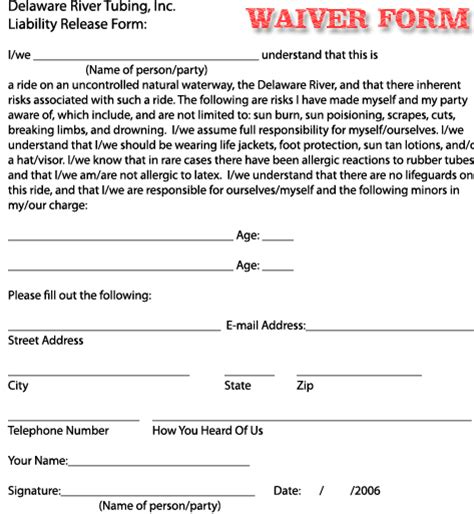 free liability waiver template free printable liability waiver sle form generic