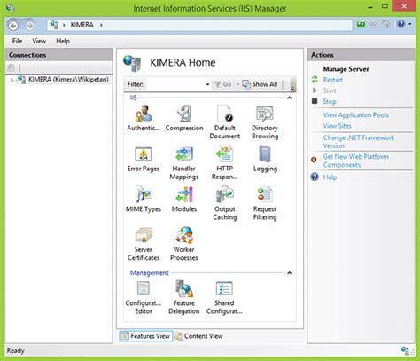 web services management console information services