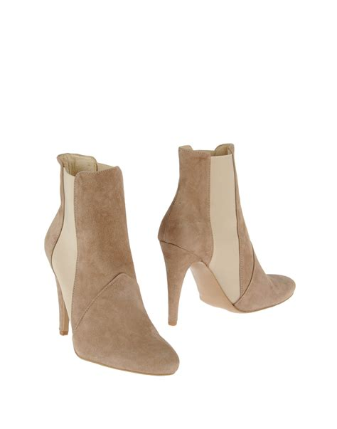 stefanel ankle boots in beige save 69 lyst