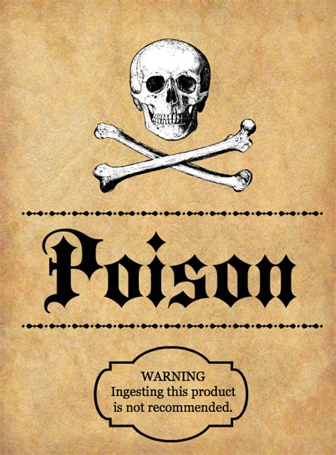 printable poison labels halloween spooky potion bottle labels with free printables