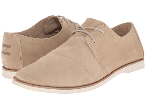 toms oxford shoes toms hensley lace up in brown for lyst