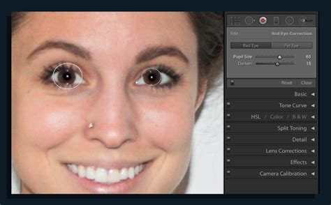 photoshop cs5 red eye tool tutorial red eye removal with lightroom classic cc adobe