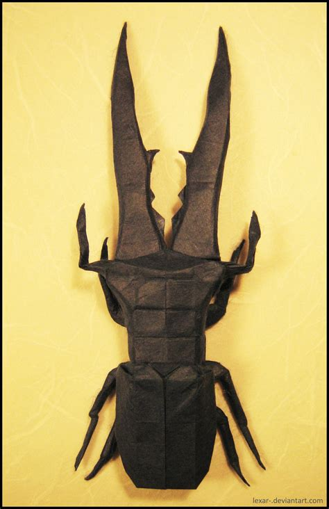 Origami Stag - origami stag beetle by lexar on deviantart