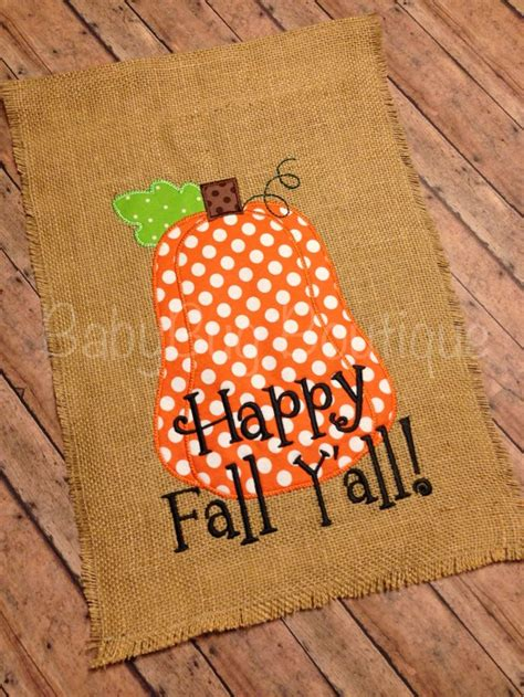 fall garden flags fall pumpkin burlap garden flag happy fall y all