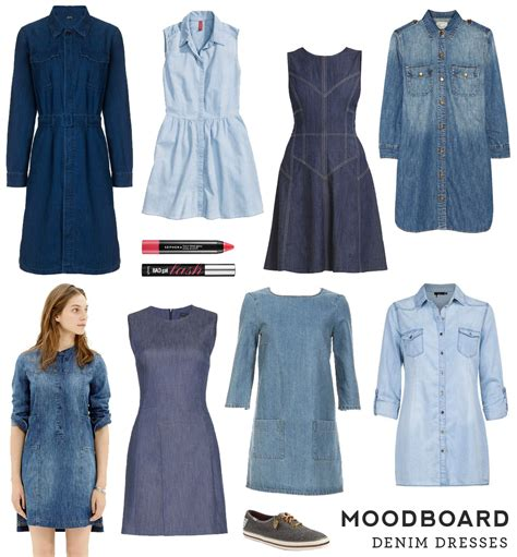 jeans dress pattern moodboard denim dresses sew diy
