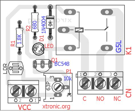 light dependent resistor simple circuit module circuit light sensor with ldr light dependent resistor xtronic