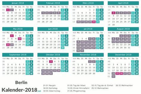 Ferien Kalender 2018 Ferien Berlin 2018 Ferienkalender 220 Bersicht