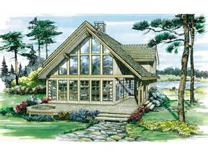 oakleigh pass a frame cabin home plan 062d 0052 house