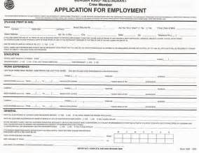 Chrysler Application Employment Application Forms To Print Application