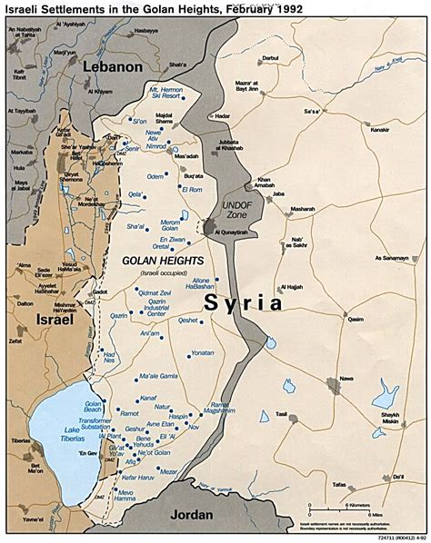 middle east map golan heights israel maps perry casta 241 eda map collection ut library