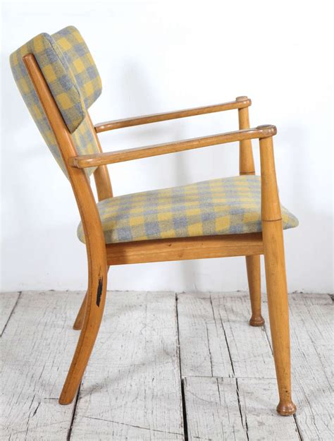 yellow and grey dining chairs hvidt bentwood dining chair in yellow and grey check